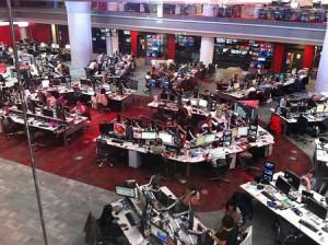 redacción de noticias de la BBC - CC-BY-SA de Deskana