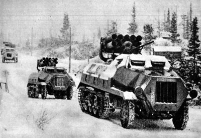 Un panzerwefer  probablemente en el invierno de 44 en la ofensiva de las Ardenas