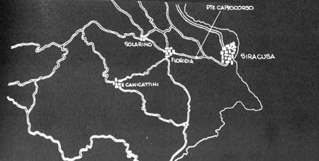 Mapa 1: Sicilia - sector Siracussa