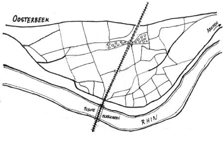 Detalle de los alrededores del puente de ferrocarril