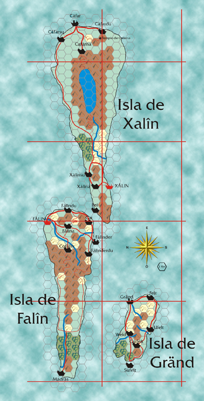Mapa de Falîn y Xalîn. Pulsa para ampliar
