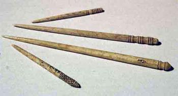 Agujas de pelo, fotografía del museo prehistórico de Valencia