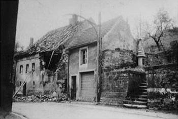 Pueblo alemán bombardeado, 1939