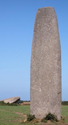 Un menhir erigido, probablemente, por los bradulak