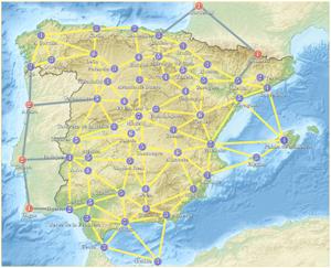 Mapa de Iberia para La Guerra de los Mundos