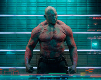 Drax, un personaje de los Guardianes de la Galaxia con el defecto de literalidad