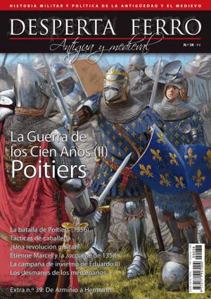 Portada del número dedicado a Poitiers en la guerra de los cien años en Desperta Ferro: Historia Antigua y Medieval