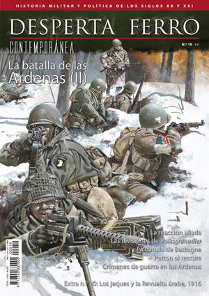 Portada del segundo número dedicado a la Batalla de las Árdenas en la Segunda Guerra Mundial en Desperta Ferro: Contemporánea