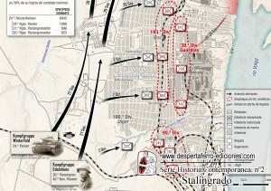 mapa incluido en el número 2 dedicado a Stalingrado