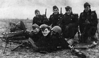 Soldados daneses el día de la invasión alemana - Imagen de dominio público.
