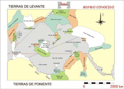 Mapa de Eriloe. Pulsa para verlo más grande