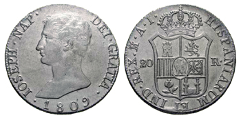 1809 - 20 reales Madrid Jose I