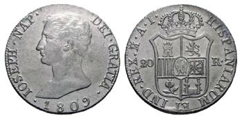 1809 - 20 reales Madrid Jose I