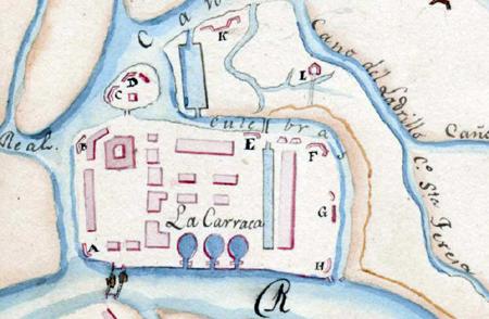 Baterías de la Carraca en 1809