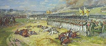 Artillería lituana en cuadro en Borodino de Chagadayev. Fuente:napolun.com