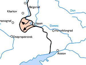 Frente Oriental sur entre diciembre de 1941 y mayo de 1942 - CC BY SA 3.0, fuente Wikipedia