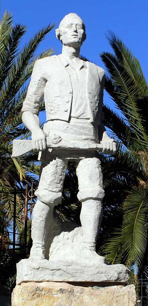 Monumento al Tío Jorge obra de Ángel Orensanz y situada en el parque Tío Jorge del barrio del Arrabal de Zaragoza - imagen obtenida de http://zgz.com.es/jorge-ibor-y-casamayor-tio-jorge/