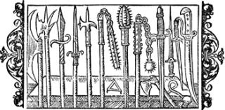 Armas medievales. Fuente: http://www.gamesdiner.com