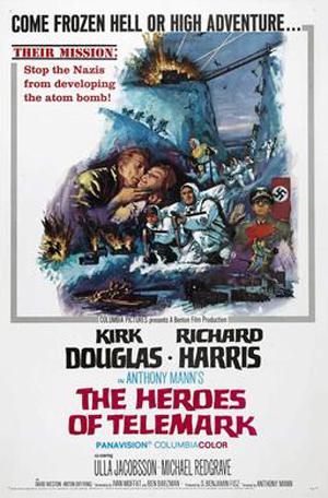 Afiche de «Los Héroes de Telemark»