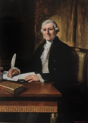 Retrato de Ramón Lázaro de Dou y de Bassols realizado por Juan Antonio Benlliure y cuyo original se encuentra en el Congreso de los Diputados.