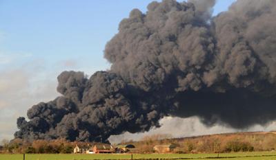 Humo de un incendio - fuente: Dailymail