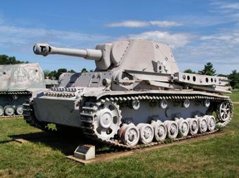 Un Heuschrecke 10 en el museo de tanques de  Aberdeeen - autor Sturmovik CC BY 3.0