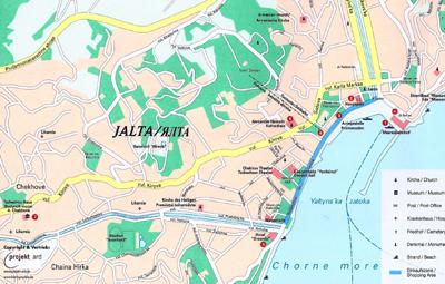 Mapa Yalta