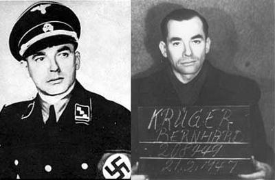 El comandante Bernhard antes y tras su captura - Imagen de Dominio Público