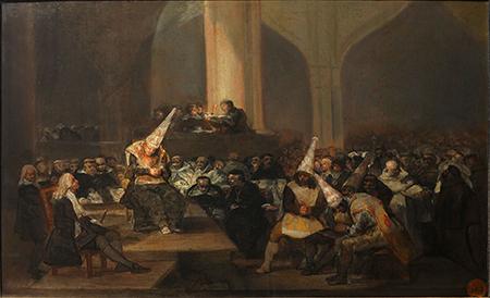 Goya, Escena de la Inquisición