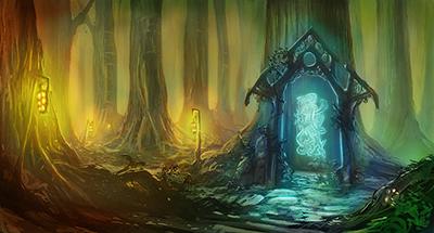 Representación artística de un portal. Fuente http://worldofeletale.wikia.com/wiki/File:Elf-gate.jpg