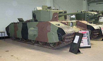 Tanque A33 expuesto en el museo de Bovington. Imagen del museo