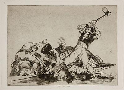 Grabado «Lo mismo» de Goya