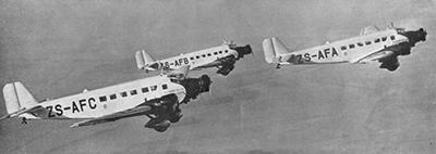 Junker Ju-52 en formación. Imagen de dominio público