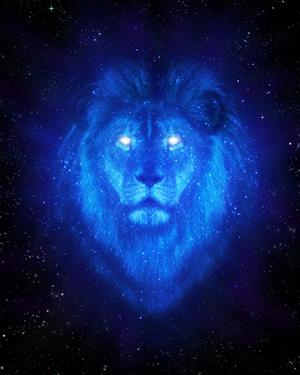 Logotipo Divino Tesoro. Imagen de Celestial Lion de Mich73b Devianart