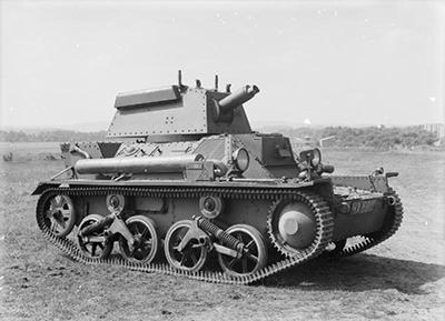 El carro británico Vickers Mk III en el que está basado el T.15 belga - Imagen de dominio público
